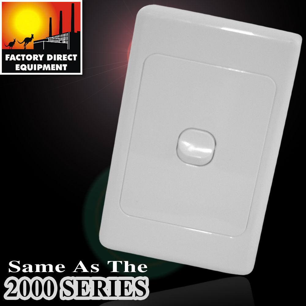 10 X FDE Gang Single Light Switch With Removable Face And SAA STAMP