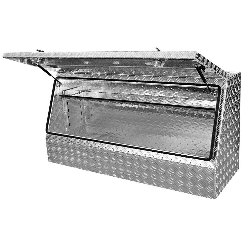 Aluminium Toolbox 2mm With 5 Way Adjustable Shelf Ute